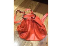 Tosca Blu Italy Leather Bag Backpack Orange RRP £195