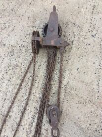 Vintage Leith cardle champion ton lifting 1946 ww2 lifting hoist
