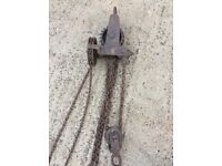 Vintage Leith cardle champion ton lifting 1946 ww2 lifting hoist