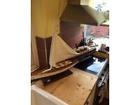 2 large scale model boats (minor restoration needed) £65 the pair