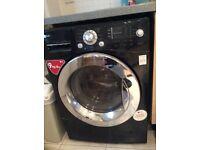 LG washer dryer black 9kg wash