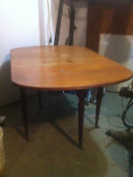 Vintage dining table and chairs & Floor lamp