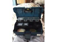 Zebco fishing tackle box (collection only)