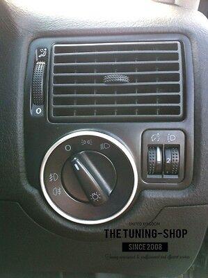 For 98-05 VW Golf 4 MK4 Jetta Aluminium Surround 1x Chrome Ring For Light Switch