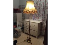 Gold Vintage Standard Lamp shade only