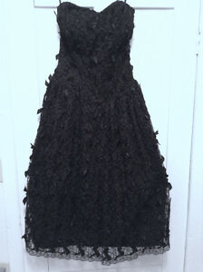 Vintage Black Ribbon Dress - perfect for Prom