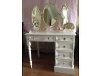 French style/ Shabby Chic Dressing Table & Mirror