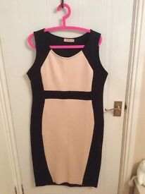 Black & Nude Stretchy Dress