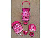 Graco Dolls Pram and Accesories