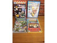 Children's DVDs 3 still in wrappers fireman Sam x 3 TMNT x 1