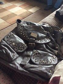 Grey backpack