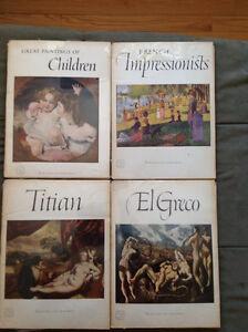14 Great Paintings full color prints Art Treasures books