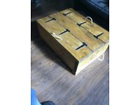 Wooden coffee table/ blanket box