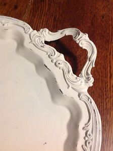 Vintage footed serving tray , French country Belleville Belleville Area image 2