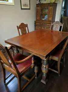 Solid wood table buy or sell dining table sets in for Dining room tables kijiji edmonton