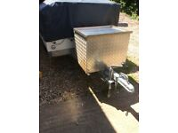 Trailer tent tow bar a frame luggage box can post