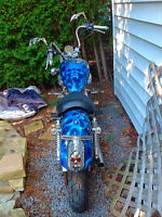 Custom painted Yamaha virago