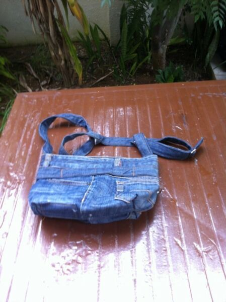 Nex denim bag. Dimension 30 x 20 x 20, In good condition.