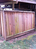 NEW 5 ft x 8 ft CEDAR FENCE PANELS