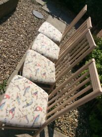 4 dining chairs upcycled Covered with Cath Kidston fabric