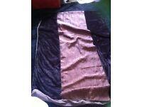 Single duvet cover and pillow slip in faux silk & velvet