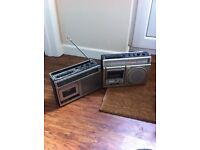 Retro portable radios wedding prop acting prop spares repair