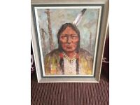 Oil on broad Indian study by Irish artists j Miller