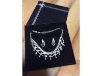 Diamonte necklace and earrings