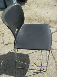 Black Plastic with Chrome Metal Chair (good condition)$15.oo