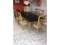 American colonial dining table chairs