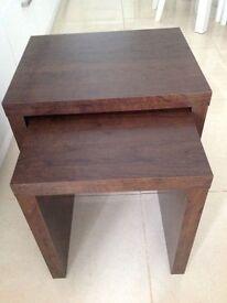 Next dark wood side tables