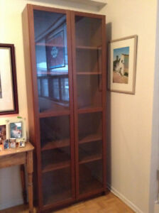 IKEA Billy Bookcase with Glass Doors – MINT CONDITION