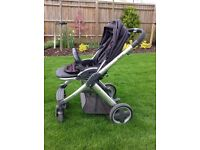 BabyStyle Oyster Pram with black Stroller Colour Pack