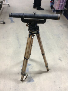 Keuffel & Esser Antique Surveyor Transit with Tripod