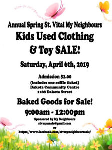St vital my neighbours annual spring sale
