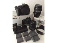 Canon EOS400D, two lens and extras.