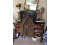 Beautiful tweed and leather Joey D skirt