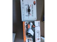Micro drone and spy tank, both have a camera