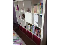 High gloss IKEA Cubes 4x4 With cupboard and pink boxes !