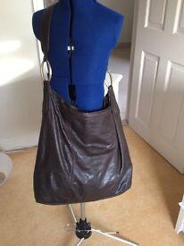 John Rocha brown leather cross body bag
