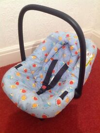 Birth -9mths Car Seat & Head Support Cushion. VG Condition. Free local delivery.
