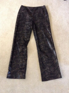Danier snakeskin leather pants - size 8