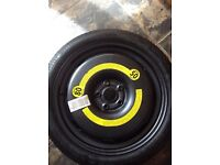 Space saver spare wheel for vw sharan or golf