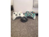 Xbox controllers,wires& lots more