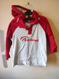 Size M Rainbows girl guides top tee shirt uniform