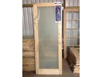 Brand new full length frosted glass pine