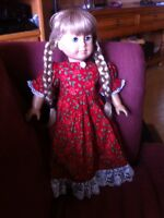 American girl doll holiday dress and cloak