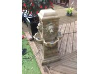 Four sided majestic lion water fountain with LEDS