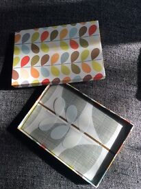 ORLA KIELY NEW!! Grey stem pillowcases