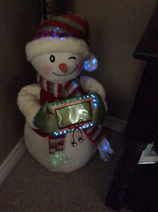 PERSONALIZED FIBRE OPTIC SNOWMAN GREETER! St. John's Newfoundland image 4